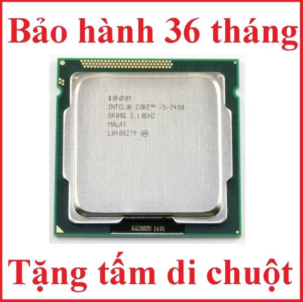 Bảng giá Bộ vi xử lý CPU CORE I5 2400 PC socket 1155 lắp main H61 Z68 B75 chạy RAM DDR3 1G 2G 4G 8G bus 1066/1333/1600 Chip Sandy Bridge thế hệ 2 tốc độ chíp  3.4GHZ  cấu tạo 4 lõi – 4 luồng Hàng chính hãng Phong Vũ