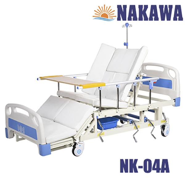 Giường bệnh nhân 4 tay quay đa năng NAKAWA NK-04A,[Giá:11.790.000], giường y tế 4 tay quay đa năng cao cấp , giường bệnh viện giá rẻ, giuong benh nhan, giuong y te, giuong benh vien gia rẻ