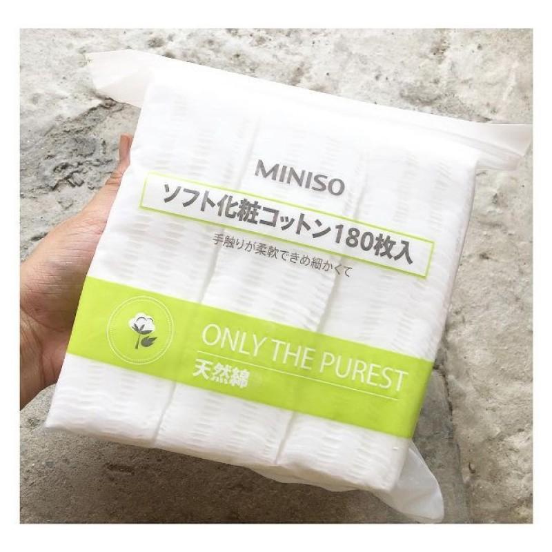 Bông Tẩy Trang Miniso Nhật Bản 180 Miếng nhập khẩu