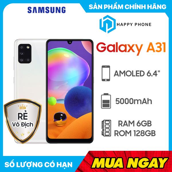 Điện Thoại Samsung Galaxy A31 ROM 128GB RAM 6GB - Hàng chính hãng, Mới 100%, Nguyên seal, Bảo hành 12 tháng [Điện thoại giá rẻ]