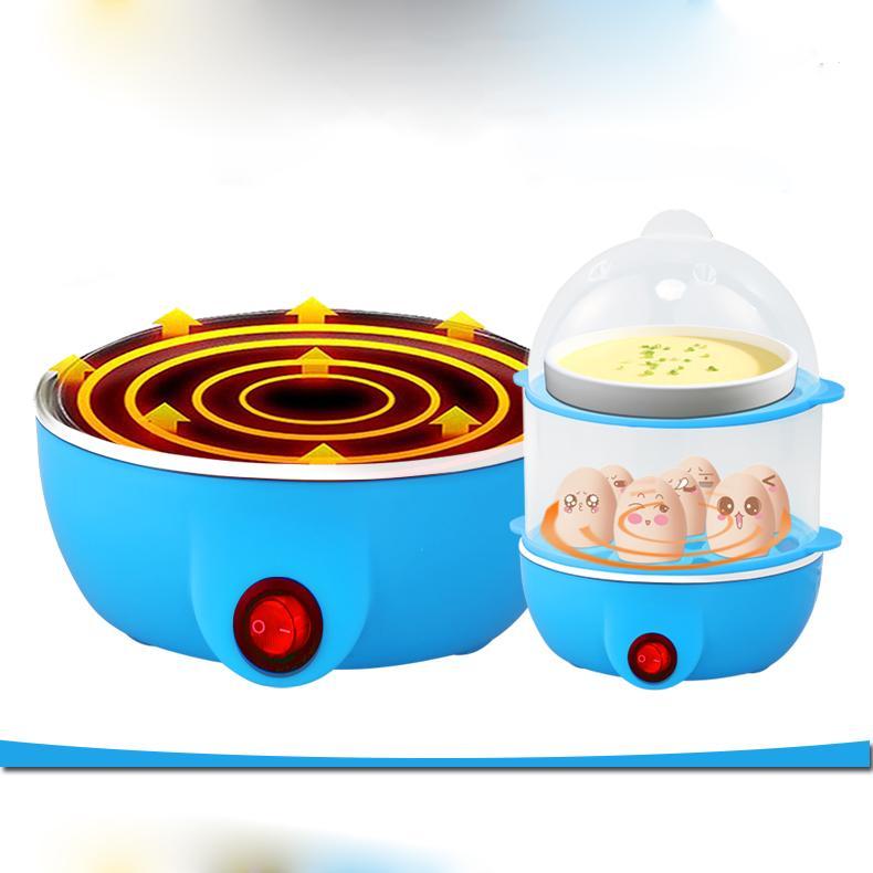 Nồi điện hấp đa năng Kemeidi, hai tầng thực phẩm mini #nấutrứng #hấpsữa tự động tắt nguồn, là máy làm đồ ăn sáng