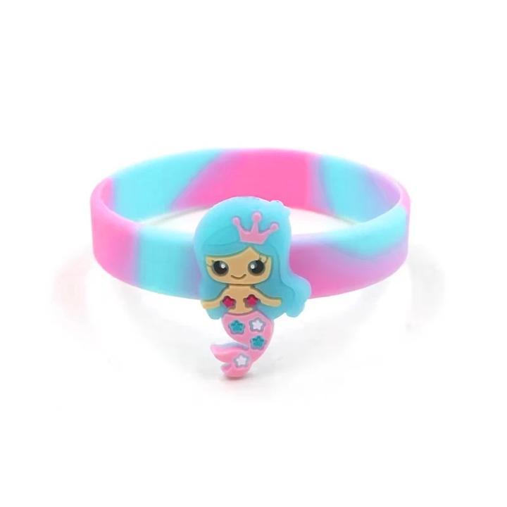 Giá bán Vòng tay silicon cho bé gái hình người cá màu sắc kỳ ảo ngộ nghĩnh BBShine – J046
