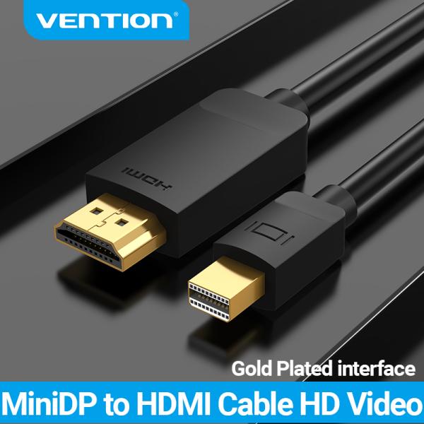 Bảng giá Vention Cáp Thunderbolt Mini DP to HDMI đầu chuyển display port sang hdmi 1080p 60Hz Cáp chuyển đổi Mini Displayport for PC Macbook HDTV Projector Thunderbolt Mini DP to HDMI Cable Phong Vũ