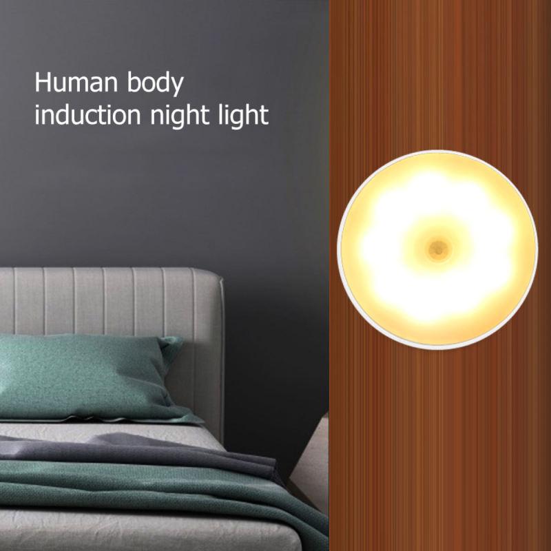 Đèn led cảm ứng chạm sáng dán tường phòng ngủ phòng tắm sạc pin trang trí trong nhà