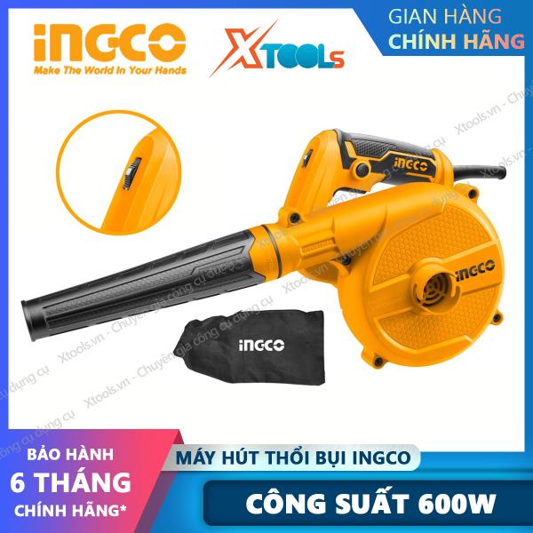 Máy thổi/hút bụi INGCO AB6008 công suất 600W tặng kèm túi chứa bụi, ống và vòi hút bụi. Máy thổi/hút bụi cầm tay [Xtools] [xsafe]