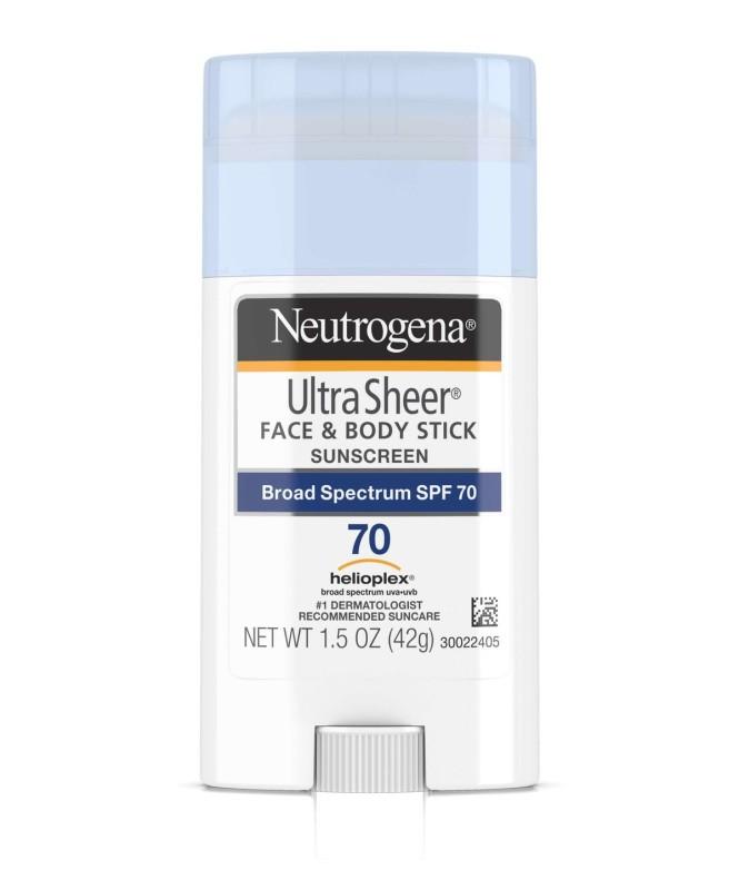 Sáp lăn chống nắng Neutrogena Ultra Sheer Face & Body Sunscreen SPF 70 nhập khẩu