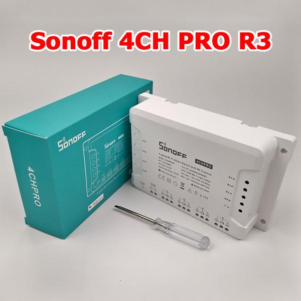 Sonoff 4CH pro R3 - Công tắc wifi 4 kênh điều khiển từ xa qua điện thoại thông minh
