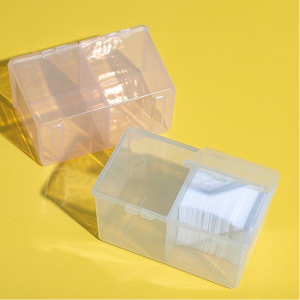 Hộp đựng giấy lau gel 2 ngăn có nắp - hộp nhựa đựng dụng cụ nail chuyên dụng