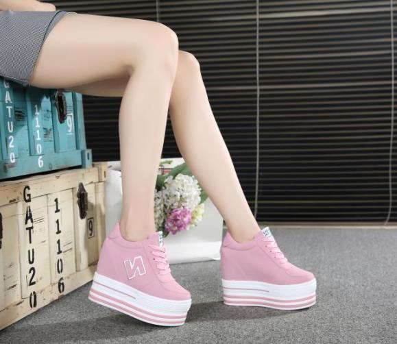 Giày Bánh mì nữ độn đế cá tính,giày độn đế bánh mì siêu hót, giày bánh mì cột dây , cao 11cm BM083 giá rẻ