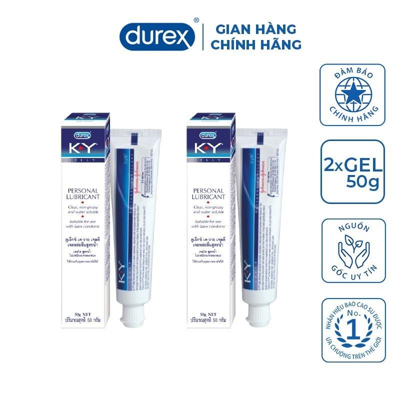 [Chính hãng] COMBO 2 chai gel bôi trơn KY Jelly 50g - Trơn mượt tự nhiên