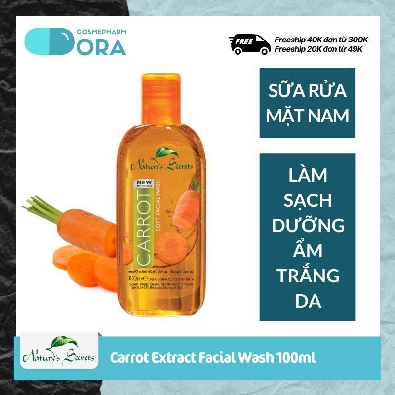 Sữa rửa mặt nam dưỡng ẩm trắng da Carrot Extract Facial Cleansing Gel 100ml