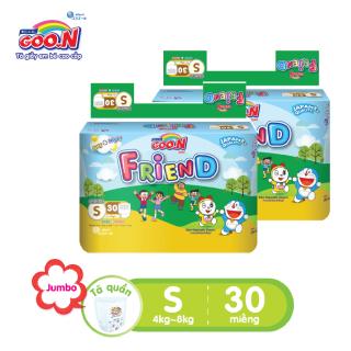 Combo 2 bịch Tã quần Goo.N Friend gói đại size S30 miếng dành cho bé từ 4-8 Kg ( mẫu cũ Clearance) thumbnail