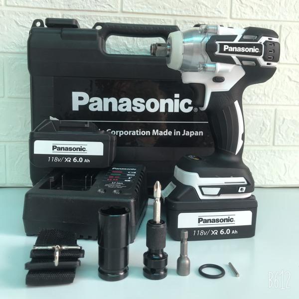 Máy siết bulong Panasonic 118V LỰC SIẾT 550Nm Kèm đầu chuyển vít, đầu khẩu, mũi vít, tôn