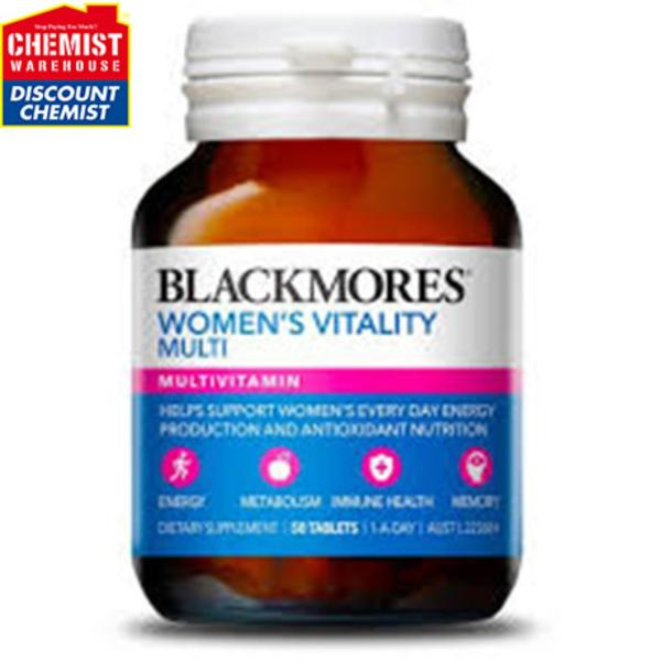 Thực phẩm bảo vệ sức khỏe vitamin tổng hợp cho nữ Blackmores Womens Vitality Multi (50 viên/hộp)