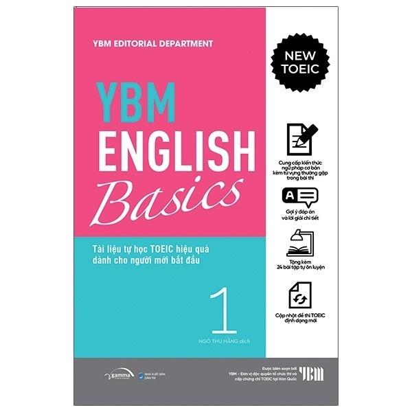 nguyetlinhbook _  YBM English Basic 1: Tài Liệu Tự Học TOEIC Hiệ Quả Dành Cho Người Mới Bắt Đầu