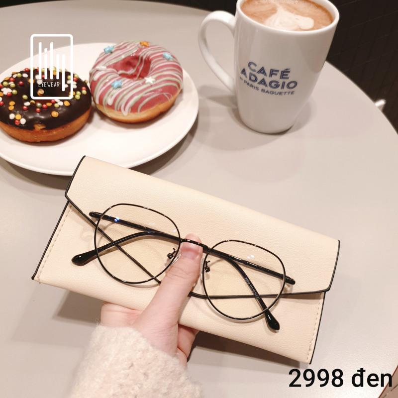 Giá bán Gọng kính cận tròn nhiều màu Lilyeyewear 2998, phụ kiện thời trang nữ phù hợp nhiều khuôn mặt, một size
