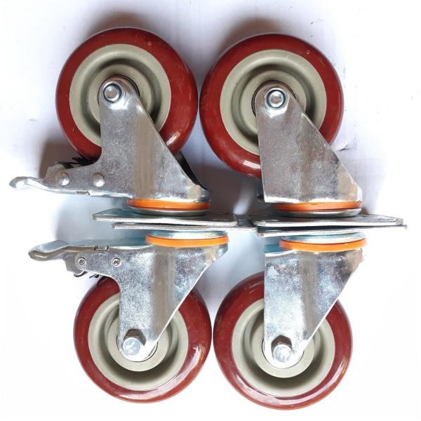 Bánh xe đẩy hàng xoay 360 độ cao cấp 7cm màu mận chín