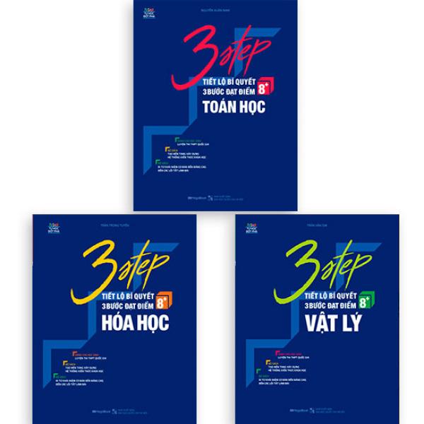 Mua Sách Combo 3 STEP khối A – Tiết lộ bí quyết 3 bước đạt điểm 8+ Toán Lý Hóa