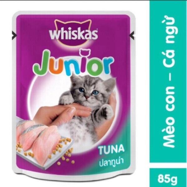 Bộ 12 gói sốt pate whiskas junior cho mèo con vị cá ngừ, sản phẩm tốt, chất lượng cao, cam kết như hình, độ bền cao, xin vui lòng inbox shop để được tư vấn thêm về thông tin