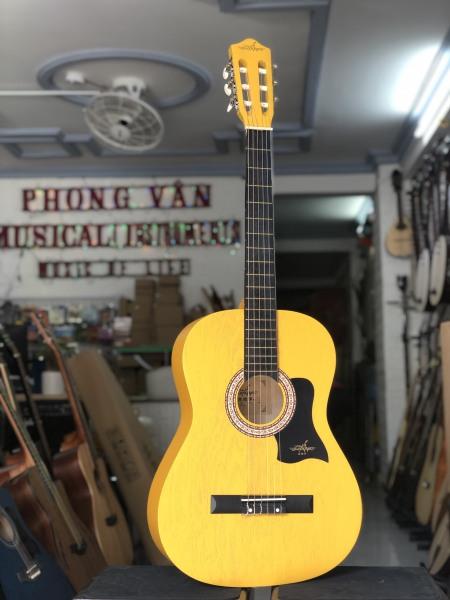 [Tặng kèm phụ kiện] Đàn guitar classic màu vàng