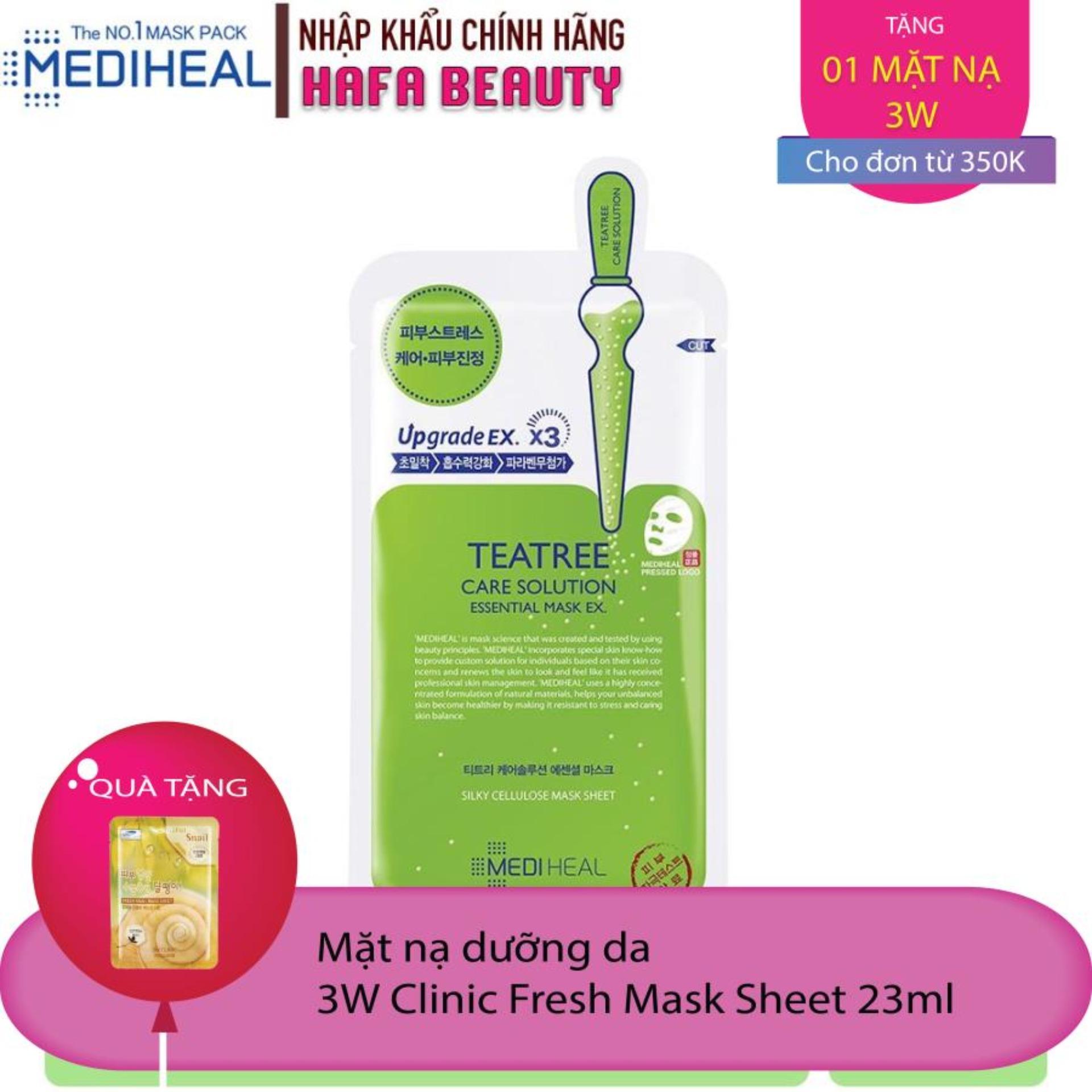 Mặt nạ dưỡng da trị mụn chiết xuất Tràm trà Mediheal Teatree Care Solution Essential Mask Ex 24ml