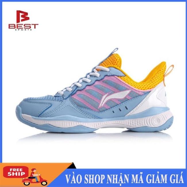 Giày cầu lông nữ Lining AYTQ028-2 đế kếp chống lật cổ chân-giày thể thao chuyên dụng-giày đánh bóng chuyền nữ giá rẻ