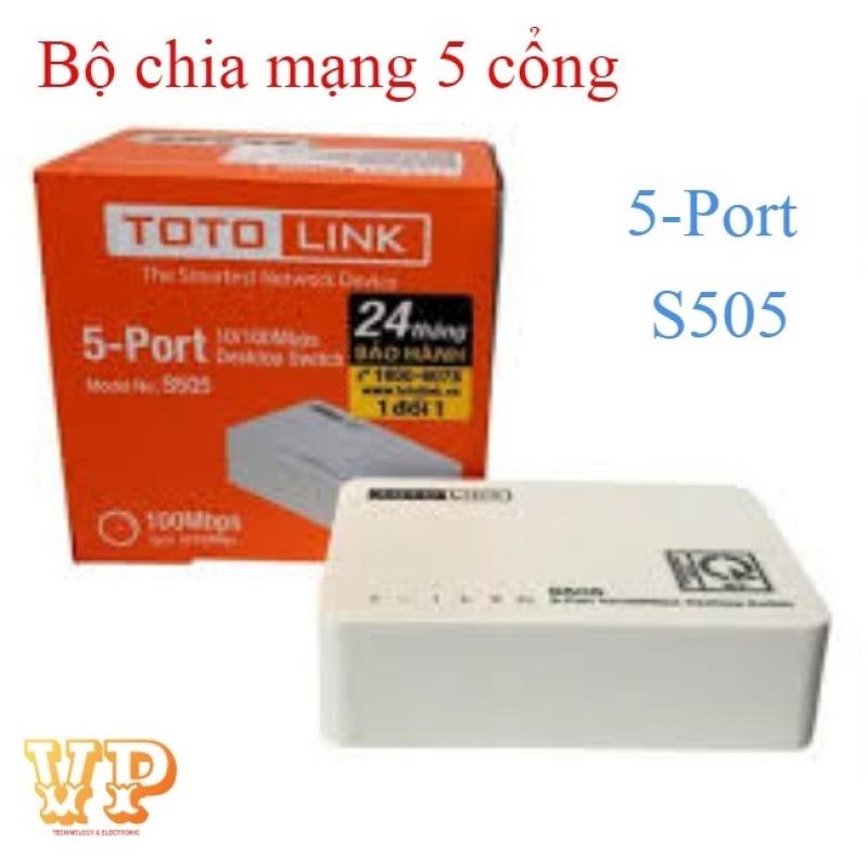Bảng giá BỘ CHIA MẠNG 5 CỔNG TOTOLINK S505 HUB 5 PORT LAN 100/100Mbps Phong Vũ