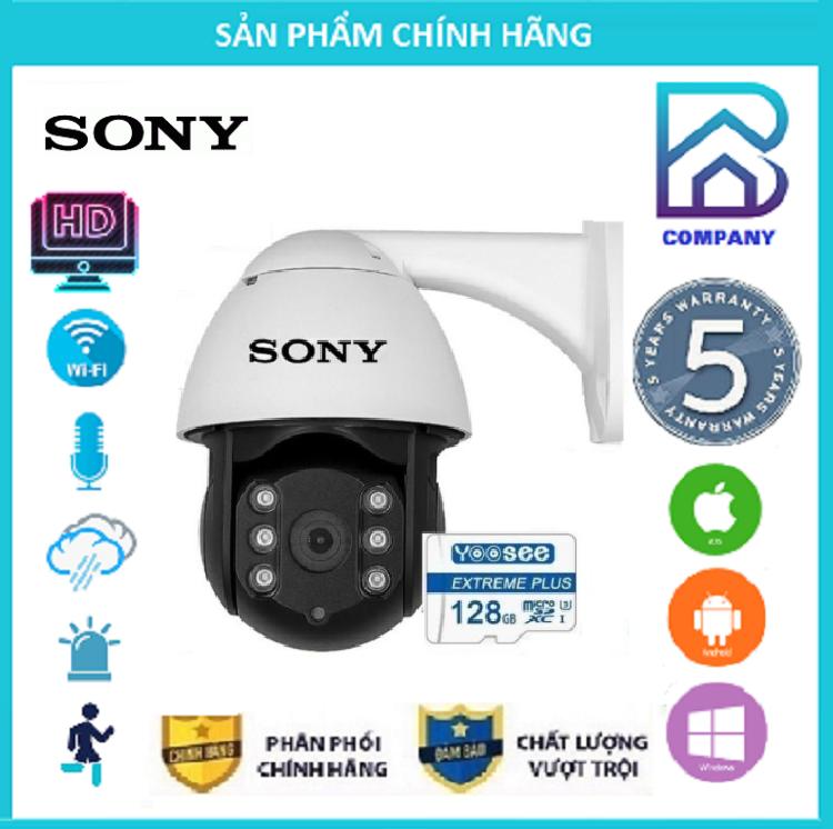 ( Combo Camera Thẻ 128GB Yoosee Bảo Hành 60 Tháng ) Camera Wifi Sony PTZ Xoay 360 Độ 4.0 Ngoài Trời - Trong Nhà 4.0 Mpx Full Hd 1080P , Siêu Chống Chịu Thời Tiết - New 2021