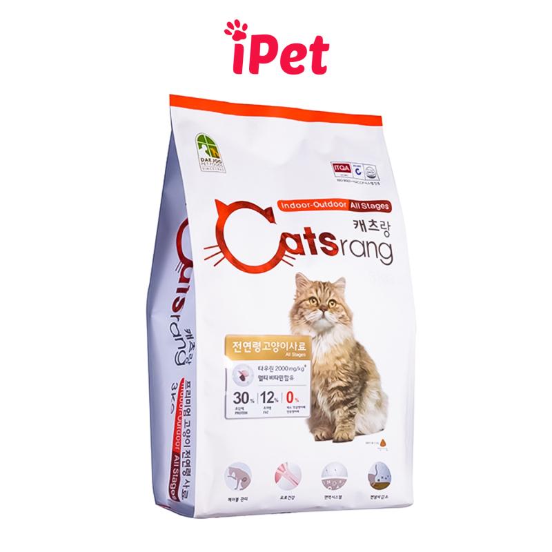 Thức Ăn Hạt Khô Cho Mèo Cats Rang 1kg,  500 Gram - iPet Shop