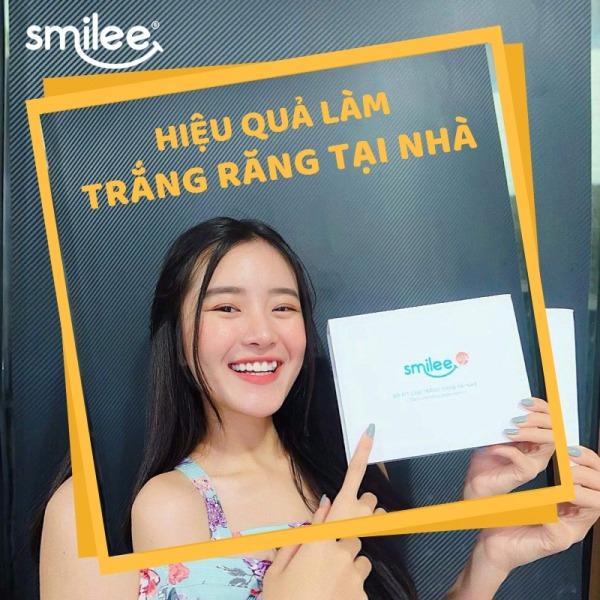 [Tặng Hộp 50 khẩu trang y tế 4 lớp+Freeship+Giảm12%] Bộ 2 Gel Tẩy Trắng Răng tại nhà Smilee| Đạt chuẩn quốc tế-ISO:22716 giá rẻ
