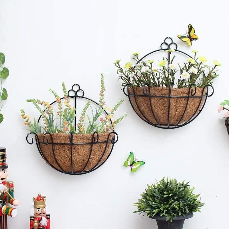 Bộ 2 Giỏ trồng hoa treo tường