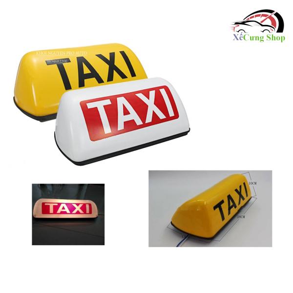 Mào taxi đế nam châm có đèn Bản To 35 Cm
