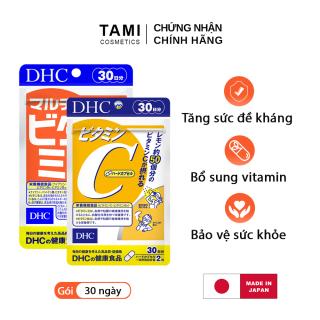 Combo Tăng cường sức đề kháng Viên uống vitamin C DHC và viên uống vitamin tổng hợp DHC Nhật Bản thực phẩm chức năng 30 ngày TA-DHC-CB11 thumbnail