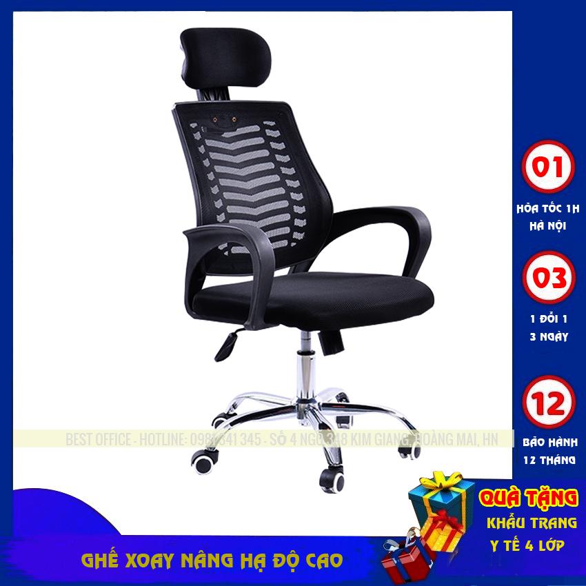 Ghế văn phòng - Ghế xoay tựa đầu chống mỏi cổ - Ghế làm việc đa tiện ích - Office chairs BOX410