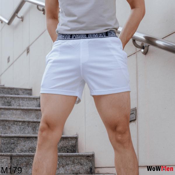 Quần Short Đùi Thun Nam Ngắn Bản Lưng To Tập Gym Squat Thể Thao Đi Bơi Mặc Nhà - M179