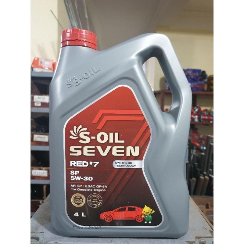 Dầu nhớt ô tô máy xăng S-oil Red #7 API SP và SN - Nhập khẩu 100% từ Hàn Quốc - Phù hợp cho xe động