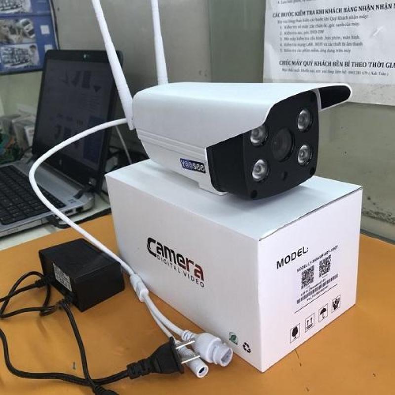 (Tặng Thẻ SD Cty chuẩn 32GB,BH 24 Tháng)Camera wifi không dây YOOSEE ngoài trời & trong nhà 2.4 MPx  chống nước kháng bụi, đàm thoại 2 chiều,ban đêm có màu,Thu Âm,có báo động đèn sáng hú còi,lưu trữ video tối đa 20 ngày