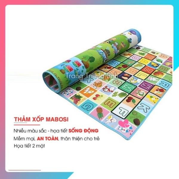 Thảm Mabosi cao cấp - Thảm xốp Mabosi họa tiết 2 mặt chống thấm êm ái cho bé