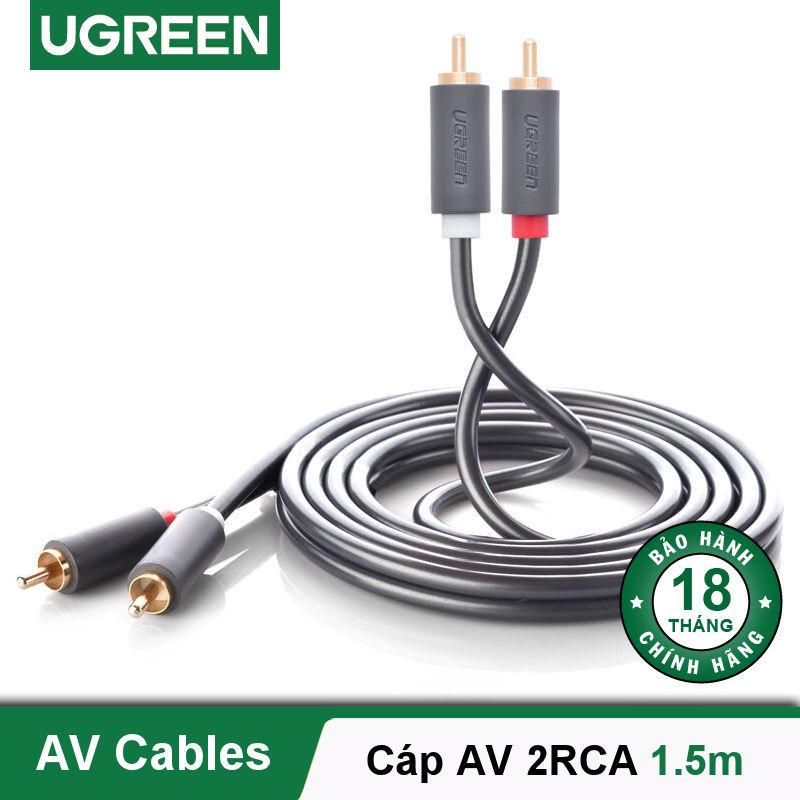 Bảng giá Cáp Audio 2 đầu RCA dài 0.5-5m UGREEN AV104 - Hãng phân phối chính thức Phong Vũ