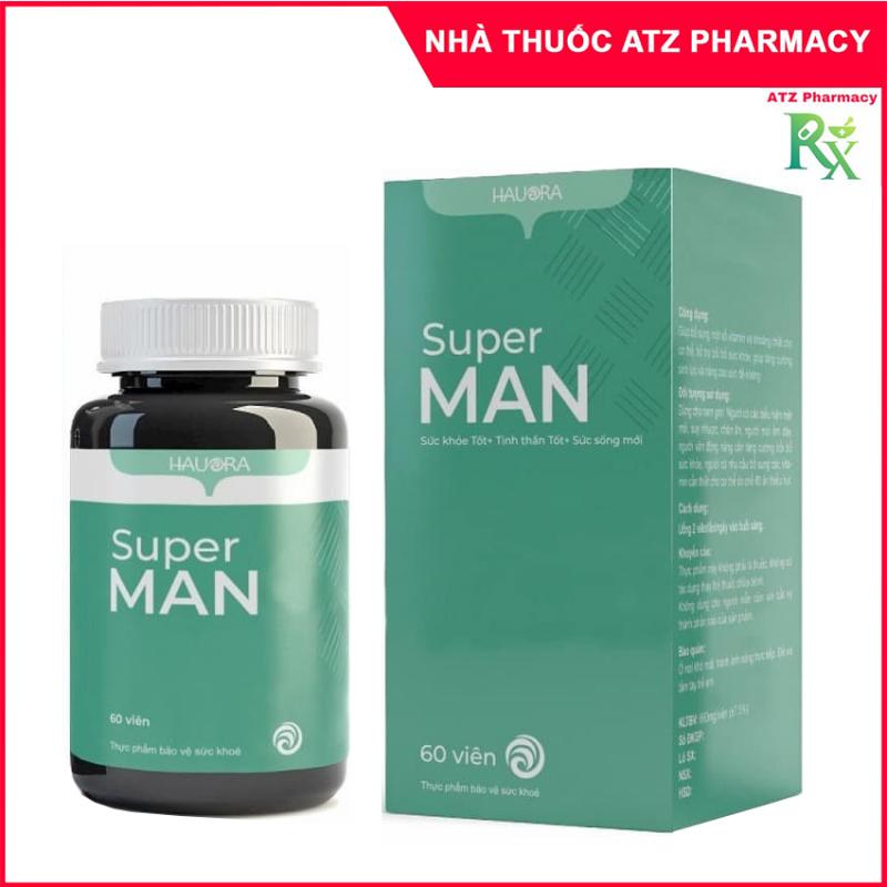 Viên uống Hauora Super Man (Lọ 60 viên) bổ sung vitamin, tăng cường sức khỏe nam giới - atzpharmacy