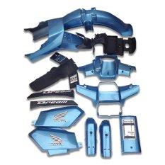 Dàn áo nhựa ABS nguyên sinh xe Dream II màu xanh da trời nhãn hiệu GTP