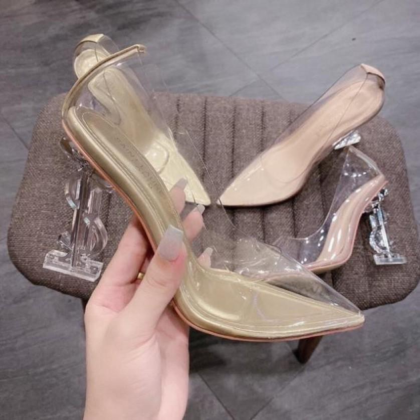 Giày Cao Gót Quai Trong 9P - VNXK Cao Cấp - Full Size 34-40 giá rẻ