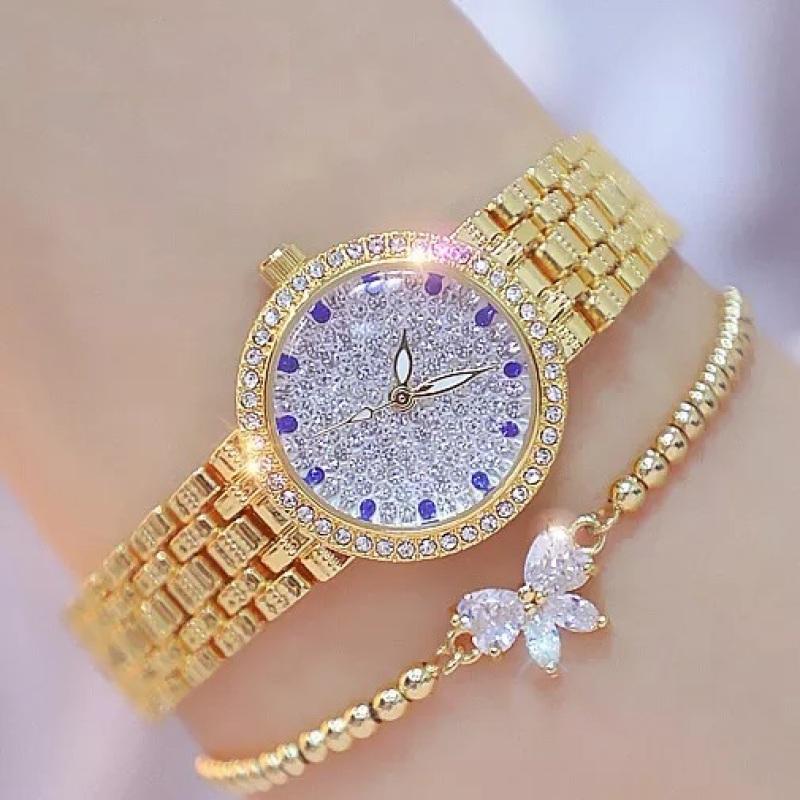Đồng hồ nữ chống nước bee sister 1598 dây đính đá đẳng cấp