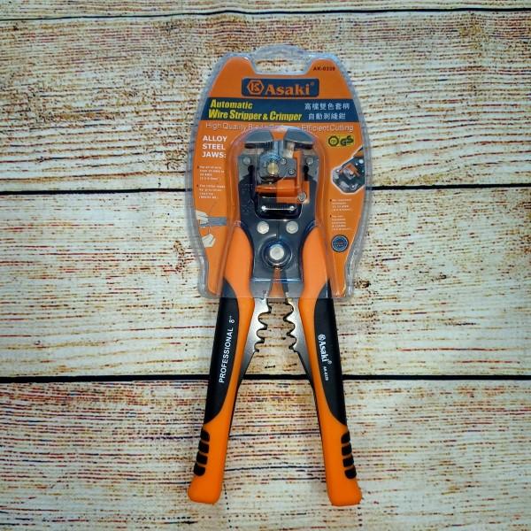 Kìm tuốt dây điện, bấm cos đa năng, tự động Asaki AK-0339