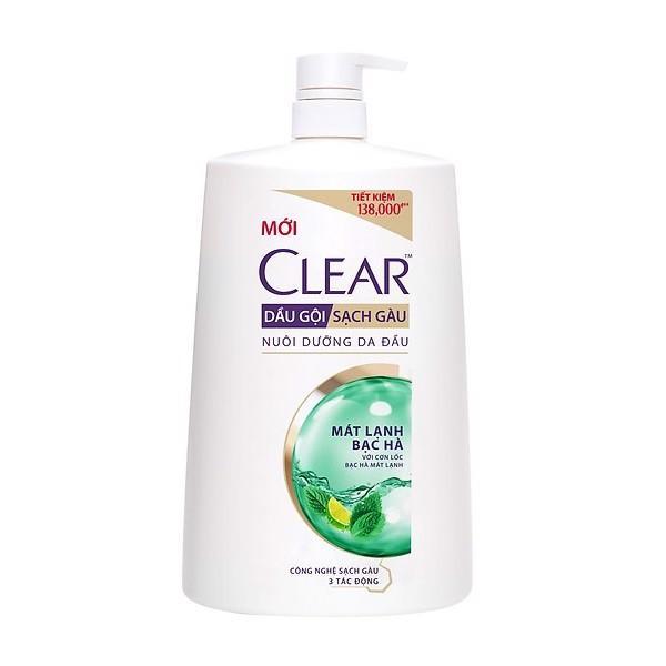 Clear dầu gội mát lạnh bạc hà 1.4kg/chai giá rẻ