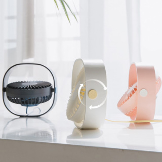 USB Mini Máy tính để bàn Quạt tự nhiên Di động 3 tốc độ có thể điều chỉnh Quạt xoay 360 độ Quạt năm cánh Ít tiếng ồn Trọng lượng nhẹ Di động cho hộ gia đình văn phòng Đi du lịch thumbnail