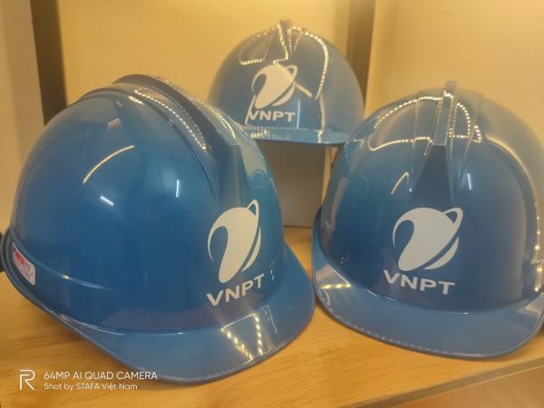 Mũ BHLĐ VNPT - (Trắng - Vàng)- Mũ SSEDA ĐVNPT - Mũ SSEDA VNPT Hàn Quốc - VNPT Bưu chính Viễn thông Việt Nam