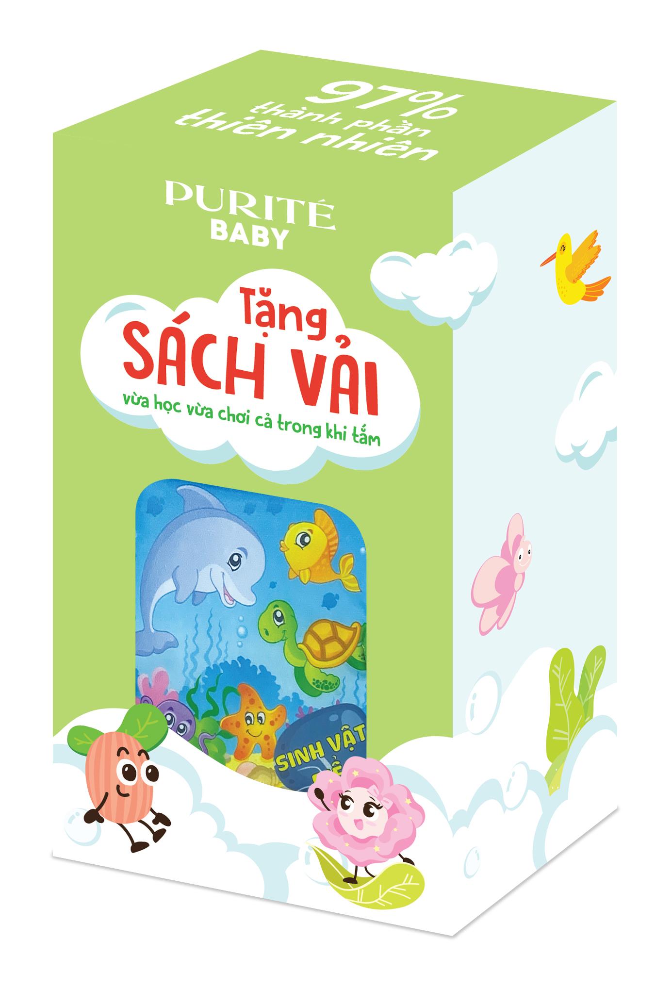[Quà Tặng] Sách Vải Purité Baby Giúp Bé Phát Triển Trí Não