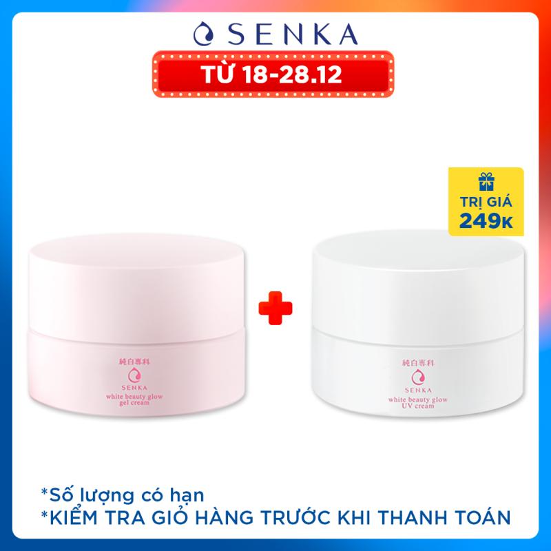 Kem dưỡng trắng da ban đêm Senka White Beauty Glow Gel Cream 50g giá rẻ