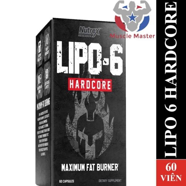 Viên Giảm Cân Mạnh  Nutrex Lipo 6 Hardcore 60 Viên